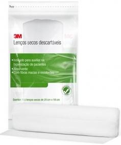 Curativo - 3M - Lenço Seco - Higienização de Feridas